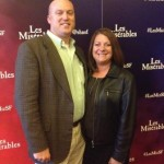 Jennifer and James Pixton attend Les Miserables in San Francisco